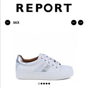 White and silver sneaker